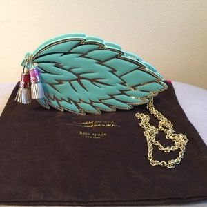 Mint Green Kate Spade Leaf Crossbody Bag